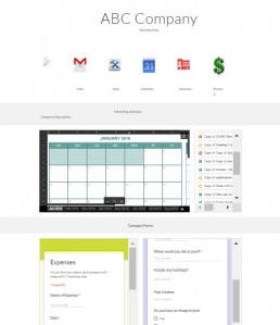 Google Sites Company Intranet