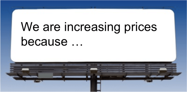 howto increase prices without upsetting customers